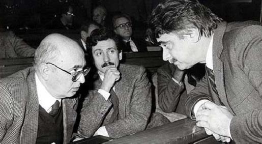 Ochetto, Dalema e Napolitano al XX congresso del PCI di Rimini