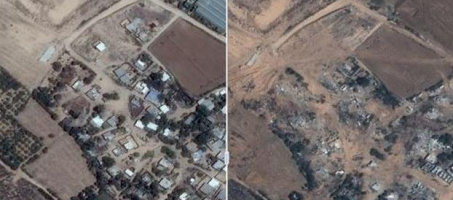 Gaza, prima e dopo le bombe di Israele
