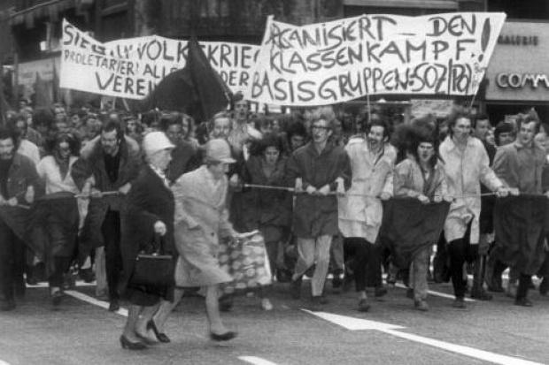 Contestazione giovanile ad Amburgo, 1968.