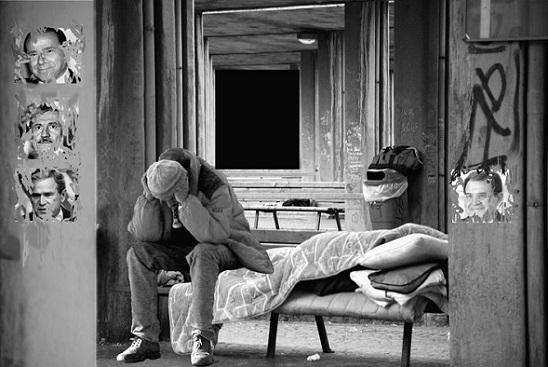 """Foto:""""Povera Italia"""", di Angelo Mazzoleni"""