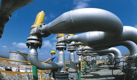 Un centro di prroduzione dell'Eni di gas e liquidi del giacimento onshore di Wafa, Libia